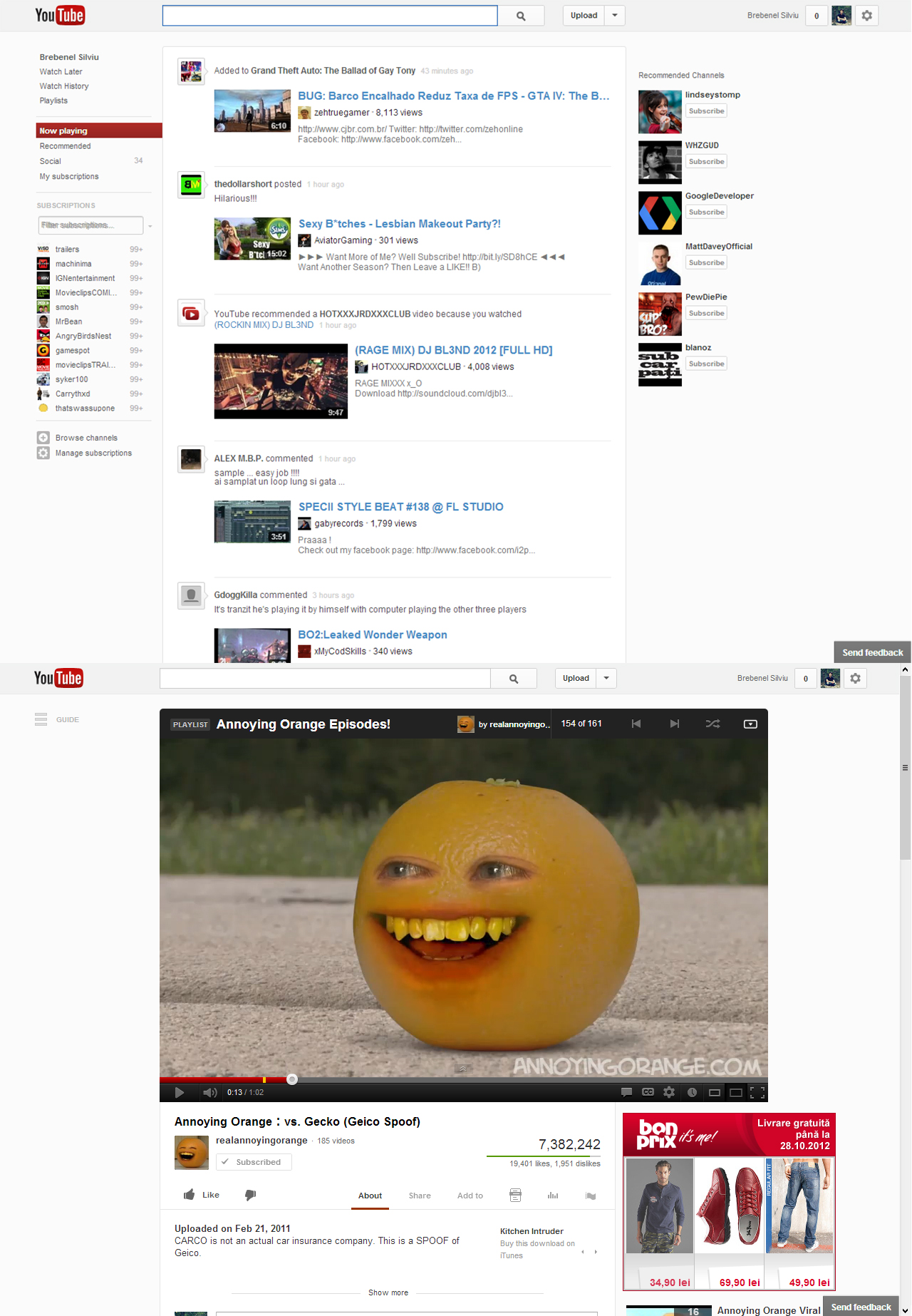 A New YouTube UI Experiment by Brebenel-Silviu