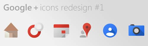 Google+ Icons Redesign #1