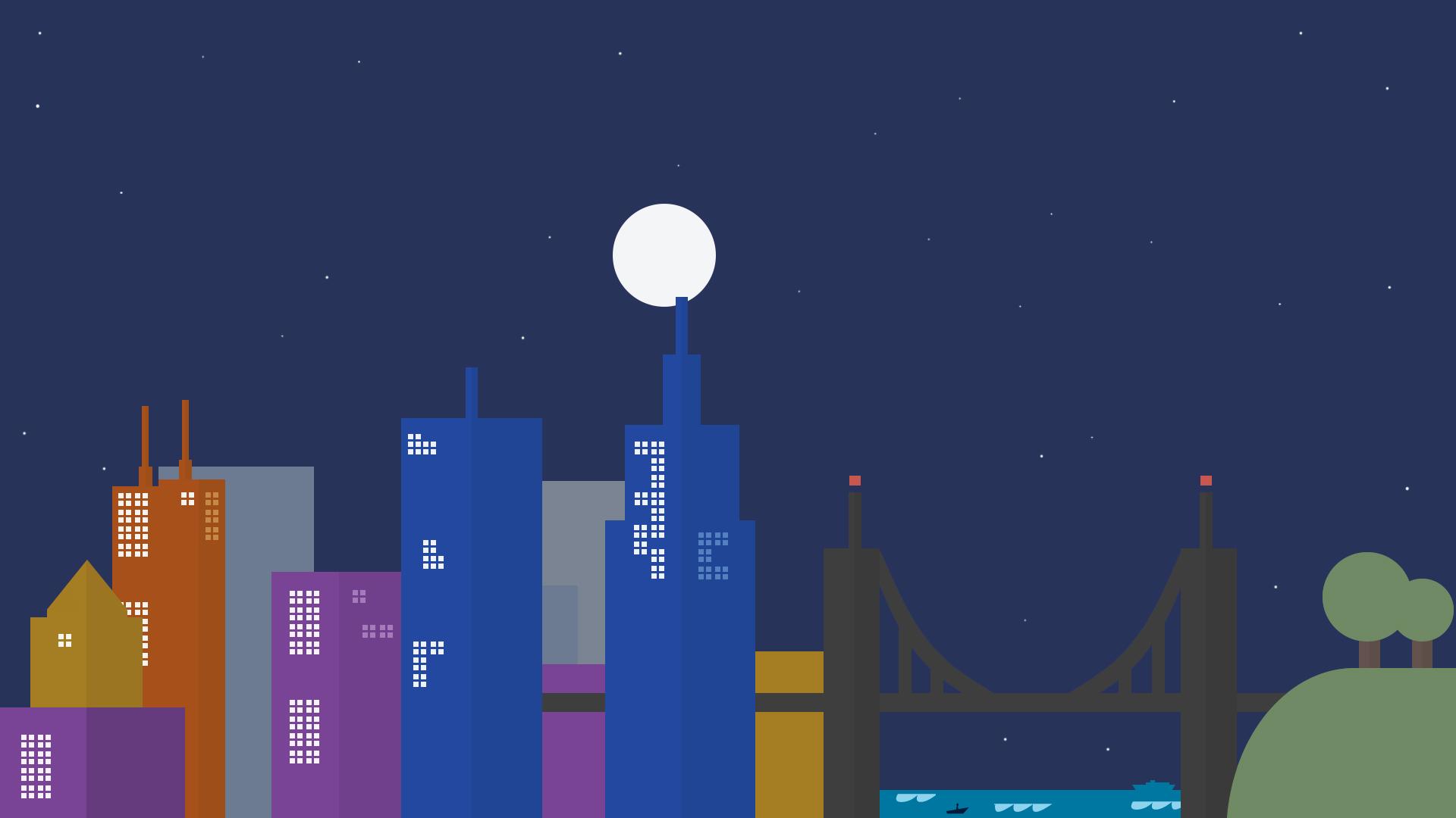 Google Inspired Wallpaper (Night)