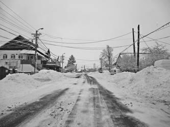 Snow Road by Brebenel-Silviu