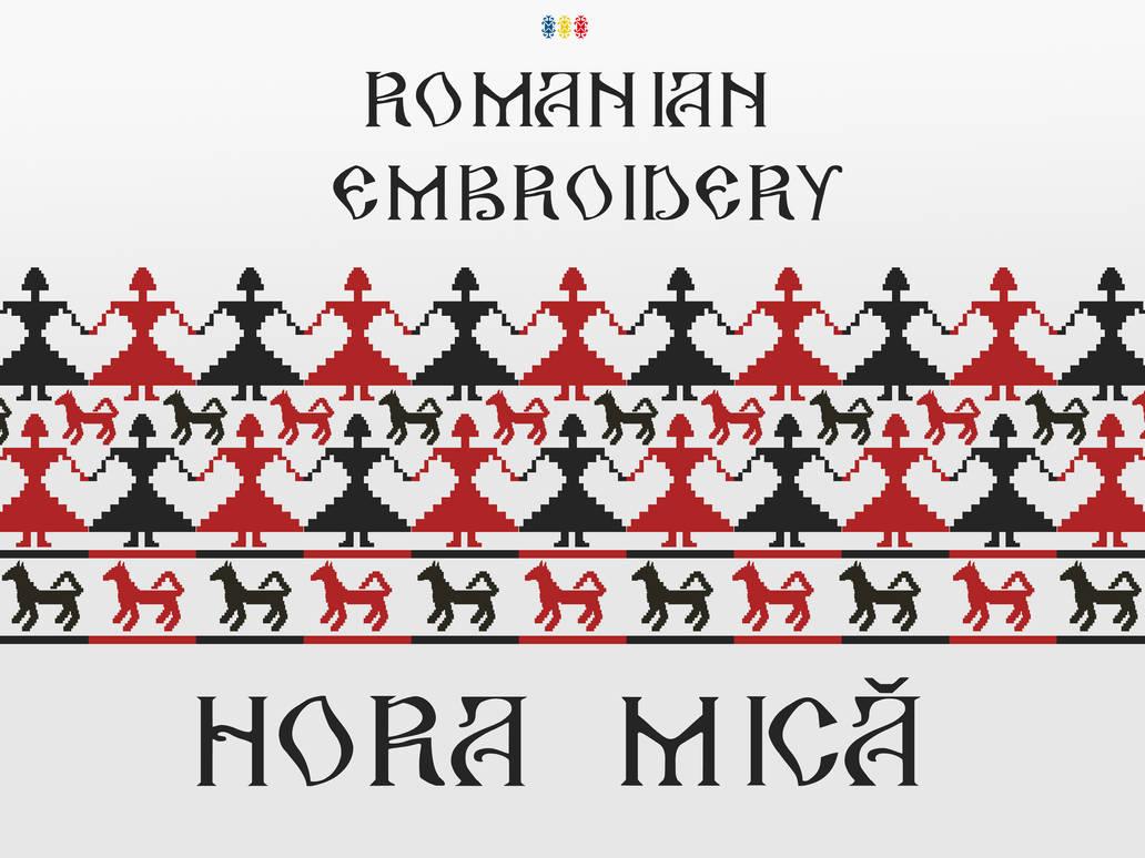 Romanian Embroidery - Hora Mica by Brebenel-Silviu