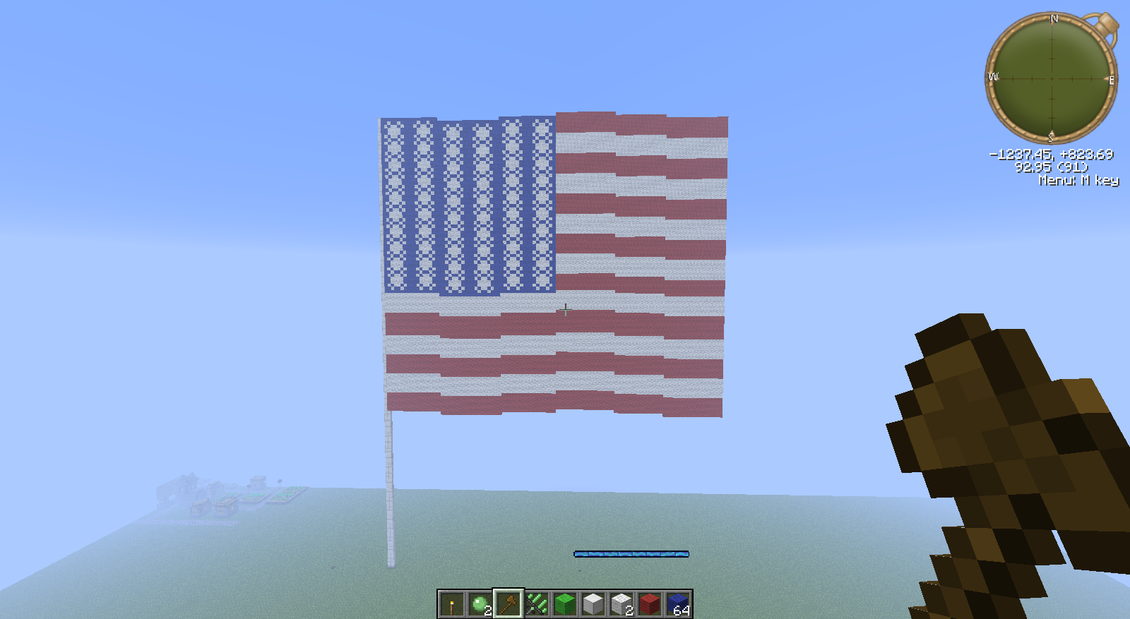 how to make a good flag in minecraft