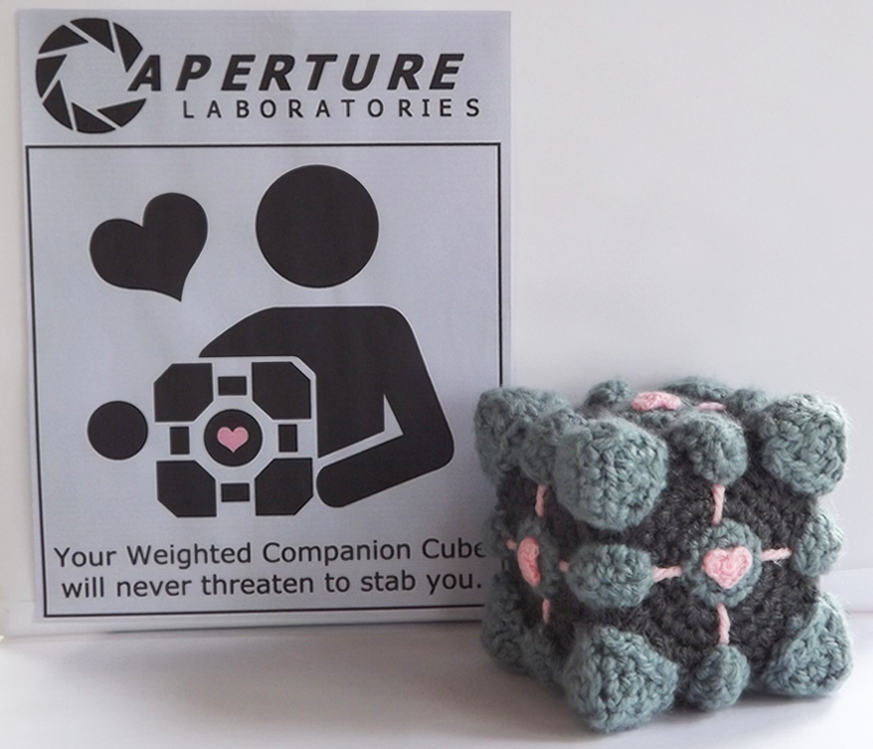 Amigurumi Cube Tutorial : Weighted Companion Cube Amigurumi by MiaHandcrafter on ...