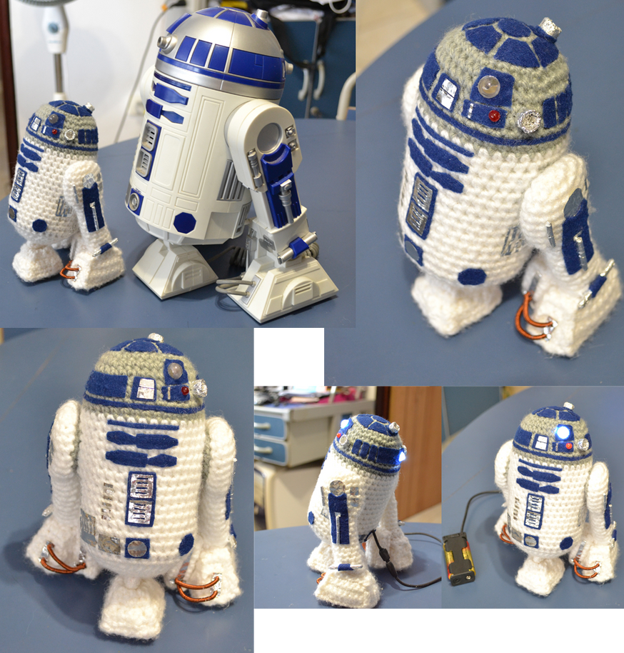 Mini R2D2 amigurumi by MiaHandcrafter