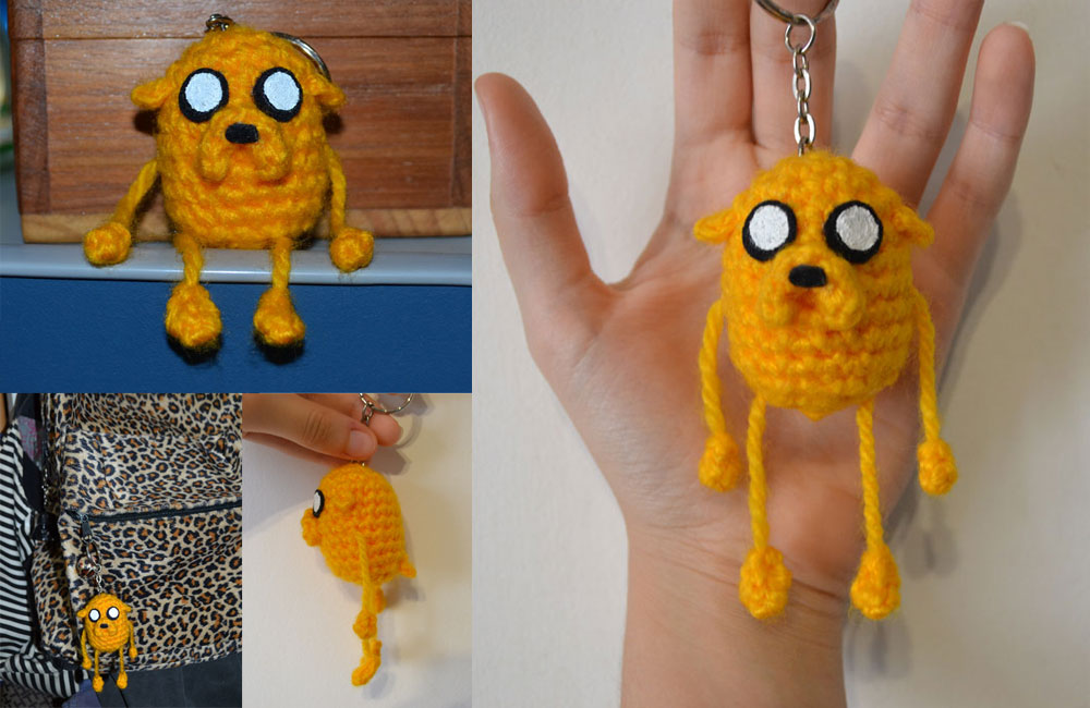 Cake The Cat Amigurumi : Jake the dog Amigurumi Keychain by MiaHandcrafter on ...