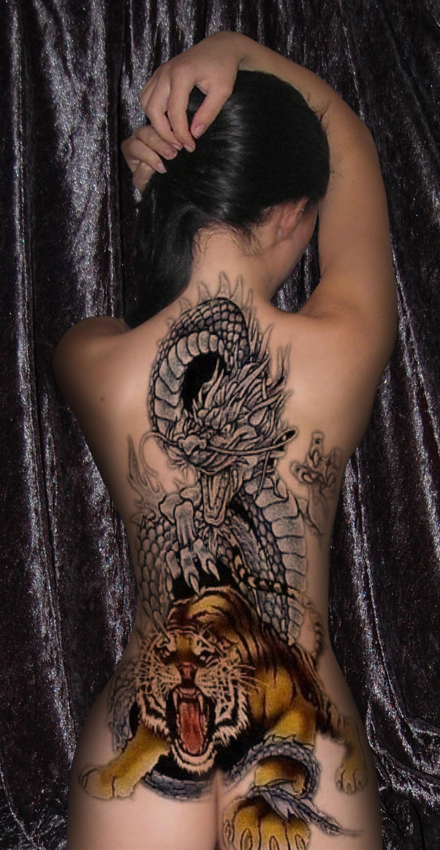 Tattoo Dragon and Tiger by