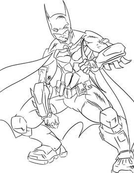 Batman arkham origins .- lineart