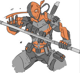 Deathstroke arkham origins.- sketch