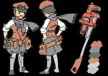 The Engineer character chart ----- by TheRaccoonRamirez