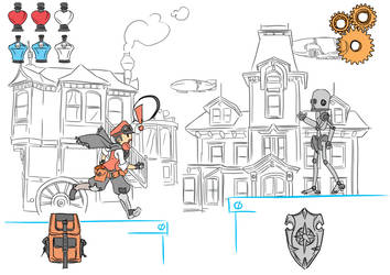 Gameplay HUD V1 ------- by TheRaccoonRamirez