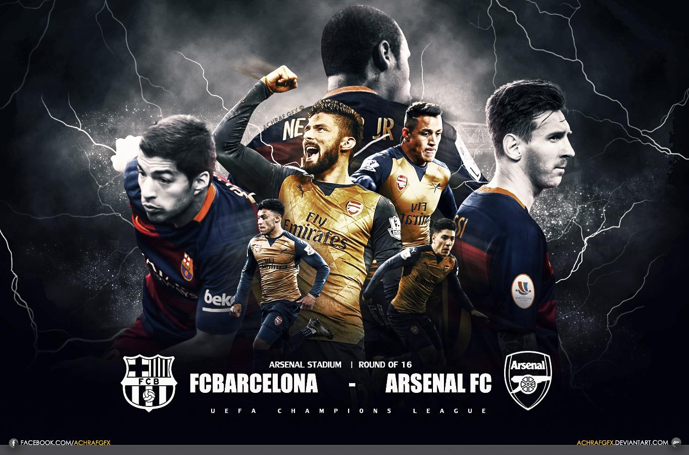 FCBARCELONA vs ARSENAL FC by Achrafgfx on DeviantArt