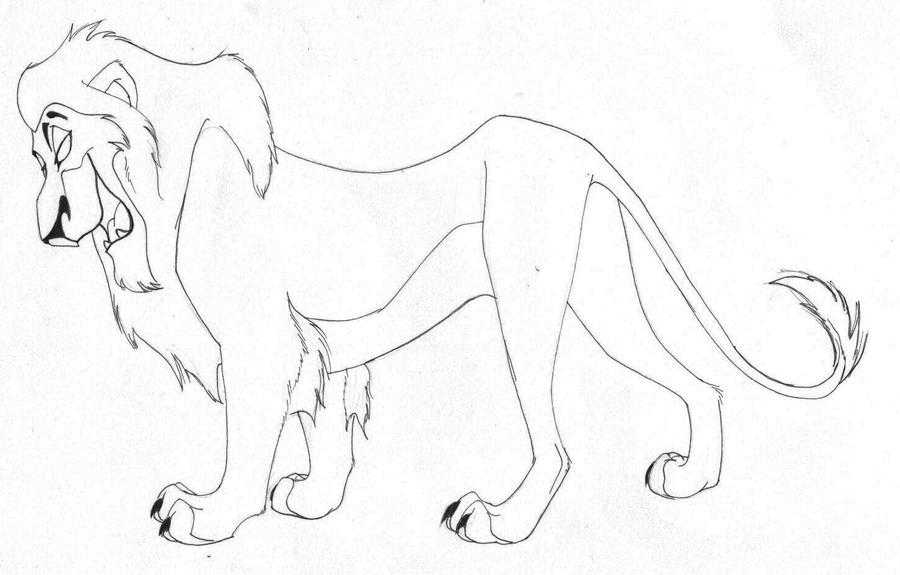 Simba vs scar fight coloring coloring pages for Scar coloring page