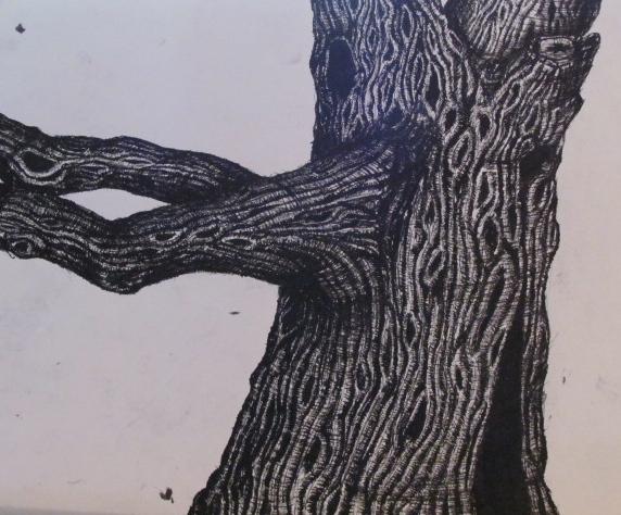 old oak tree(unfinished) by ladyenchantress