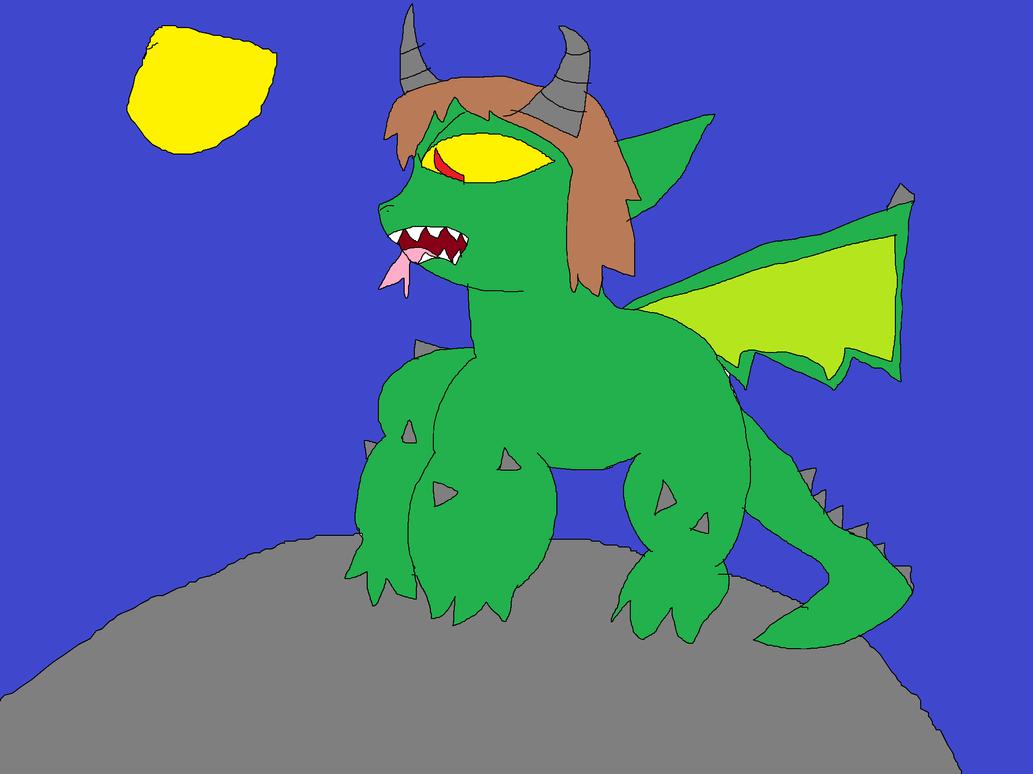 Frisk's full monster form by jaybirdking85