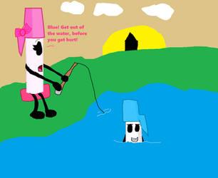 Pink Pen gone fishing by jaybirdking85