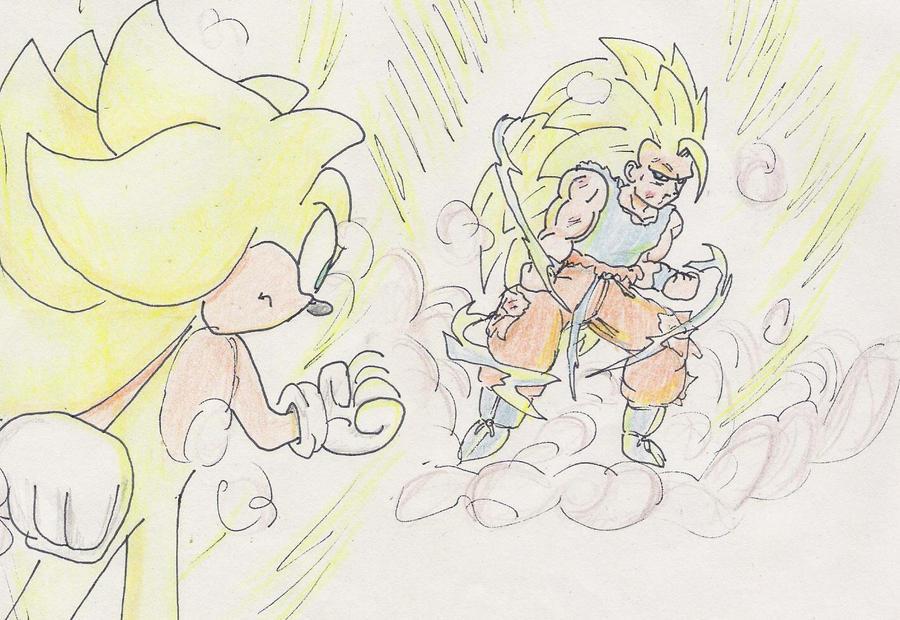 goku ssj3 y super sonic 2 by saiyanrosu on DeviantArt