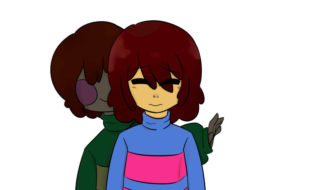 Chara and Frisk by ArtKat89