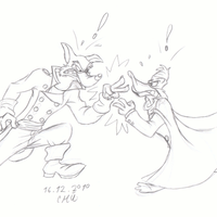 Don Karnage vs Darkwing Duck by Marijke-Rose