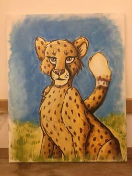 Cheetah in acrylic