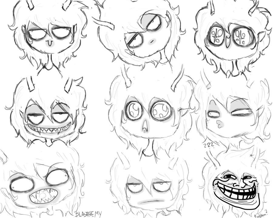 Chibi Animal Expressions Gamzee chibi expressions byChibi Expressions