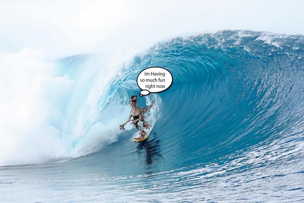Surfing Raptor by Manipulate-It