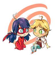 Ladybug and Adrien by sadvi