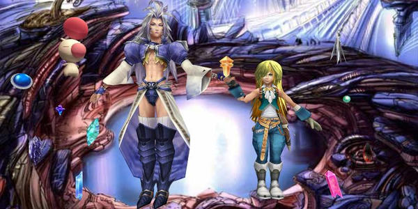 Kuja and Zidane the crystal hunter by Sephikuji