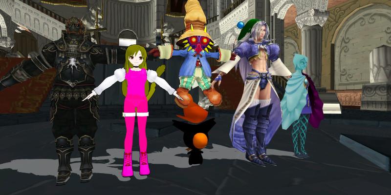 Final Fantasy 9 Cosplay the Legend of Zelda2 by Sephikuji