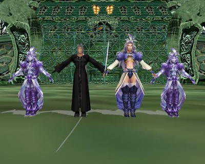 Manikin, Kuja and Sephiroth by Sephikuji
