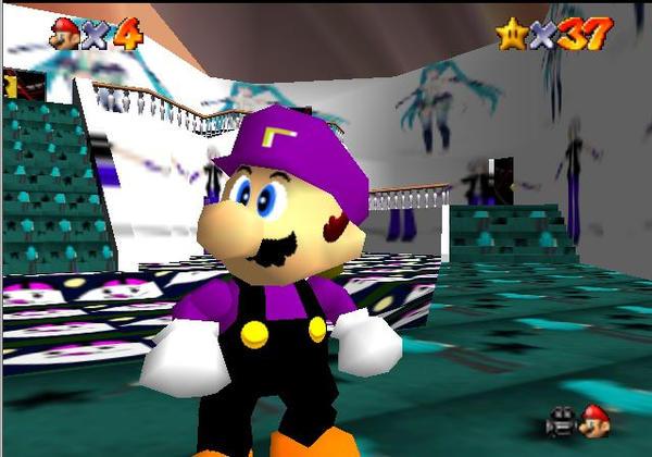 Super Mario 64 Beta Hack Castle and Waluigi by Sephikuji