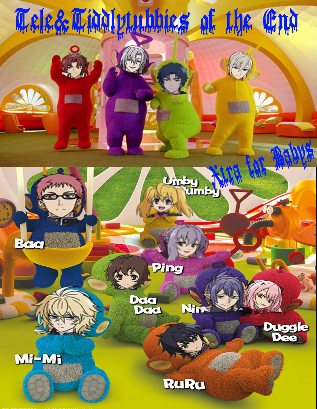 Teletubbies of the end MEME of Seraph of the end by Sephikuji