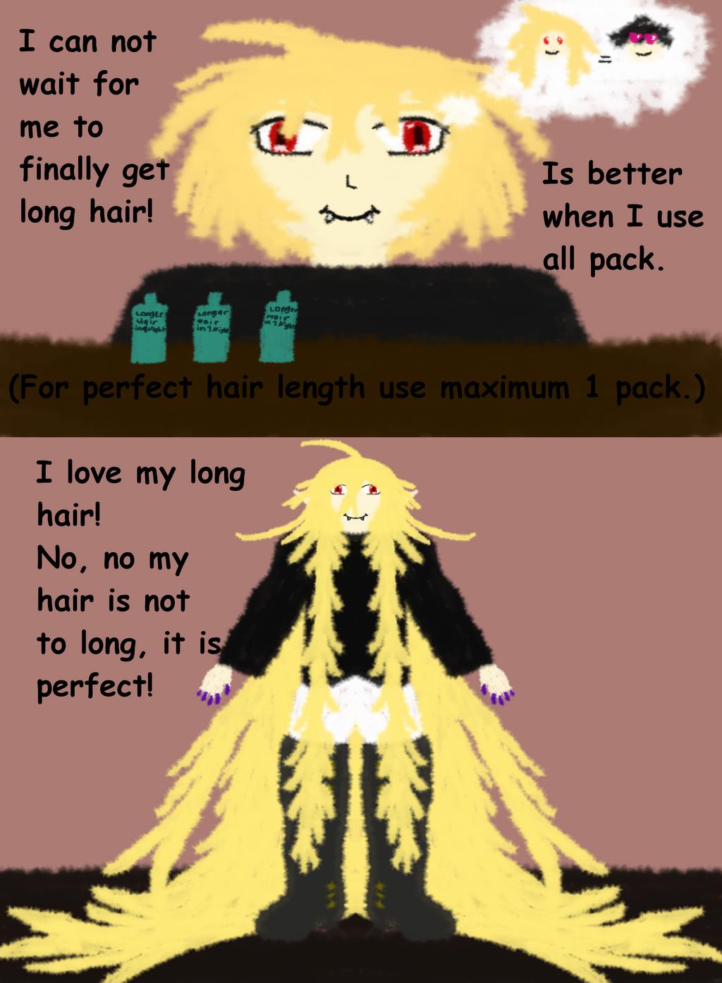 Mikaela Hyakuya gets too long Hair in one Night by Sephikuji