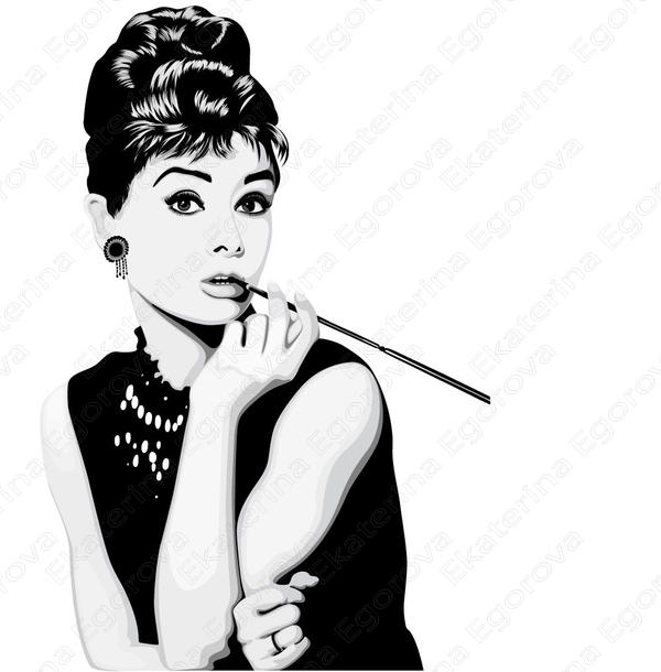 Audrey hepburn breakfast at tiffanys black and white
