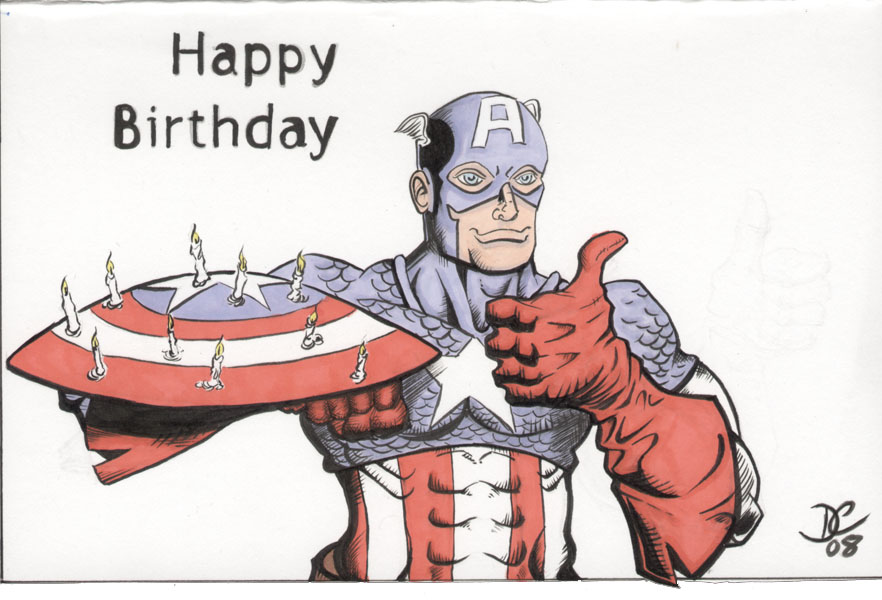 Captain America Birthday Card by TheStandard on DeviantArt