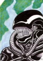 Alien sketch card by The-Standard