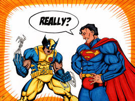 Superman vs Wolverine by The-Standard