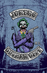 Joker Biker Patch