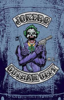 Joker Biker Patch