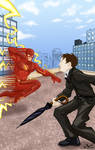 Flash vs. Penquin by The-Standard