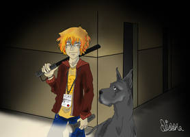Kaywann and the dog by Diddha