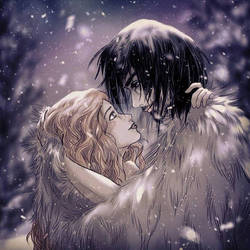 lovers and snow