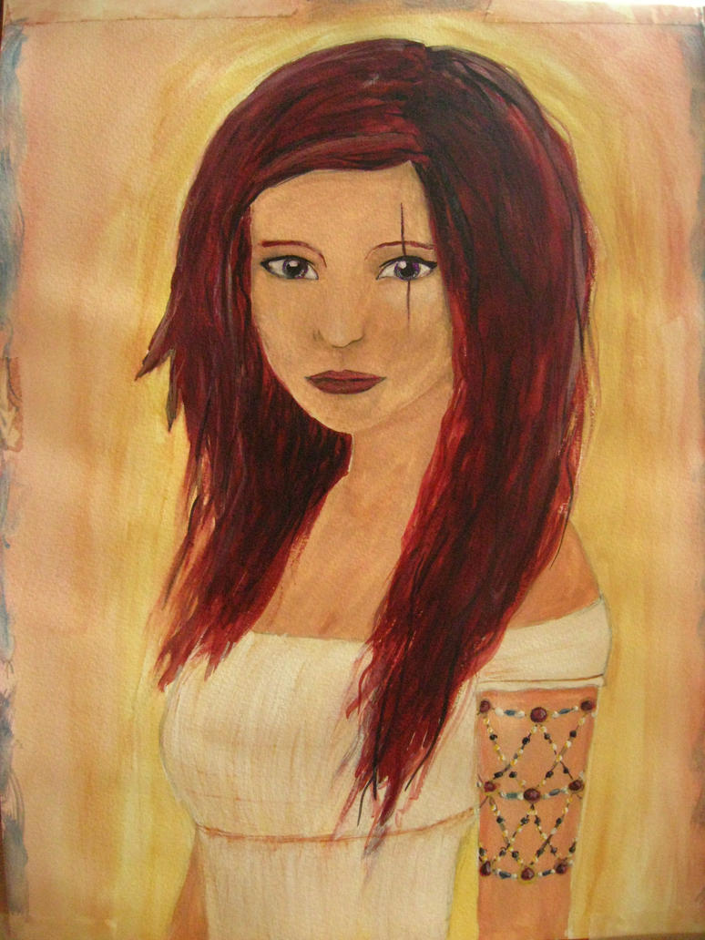 Red hair, purple eyes by Lenieza on DeviantArt