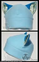 Blue Cat Ear Hat by Scorchie-Critter