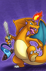 Charizard and Honedge