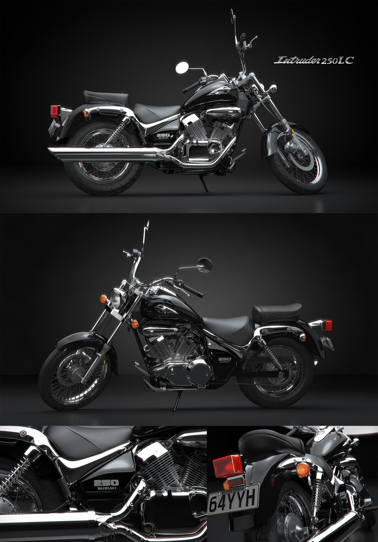 Suzuki Intruder 250LC by Tritonic