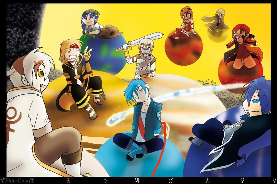 chibi planets background - photo #29