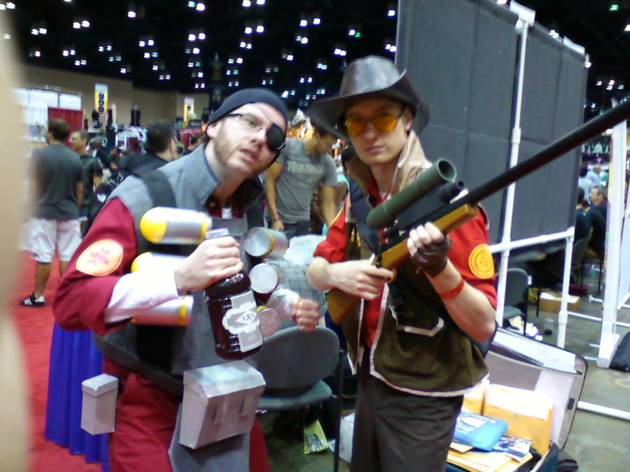 RED Demomand and Sniper by ThatOtherFangirl
