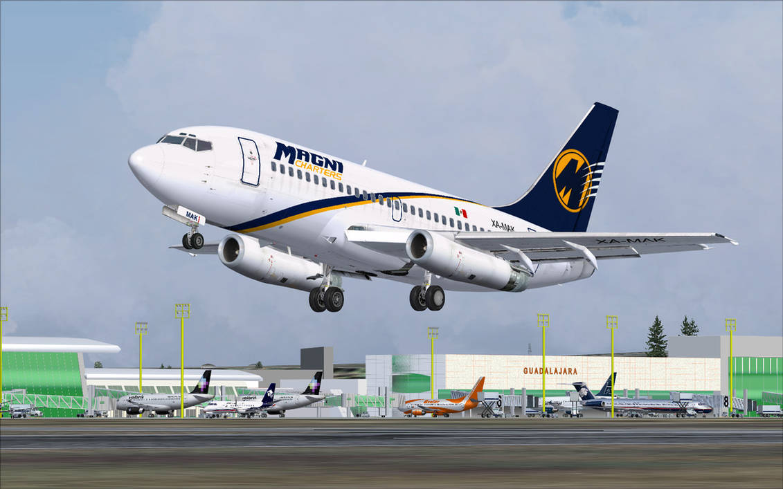 Magnicharters 737-200 Take-Off - FS2004 by A320TheAirliner
