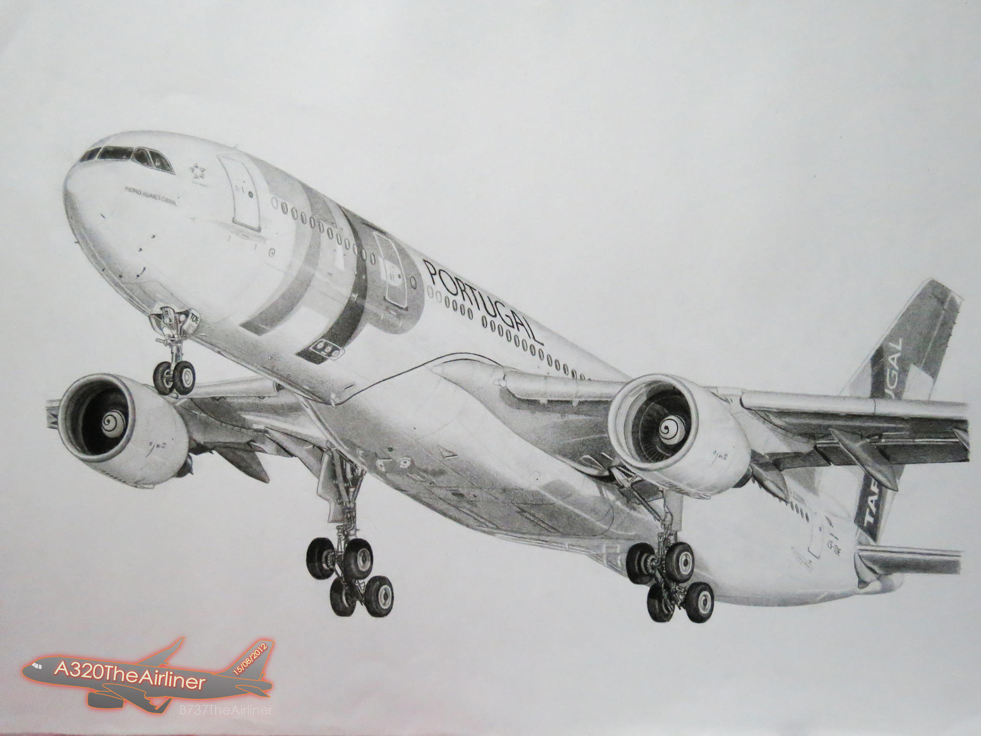 My Realistic Aircraft Drawing Tap Portugal A330 By