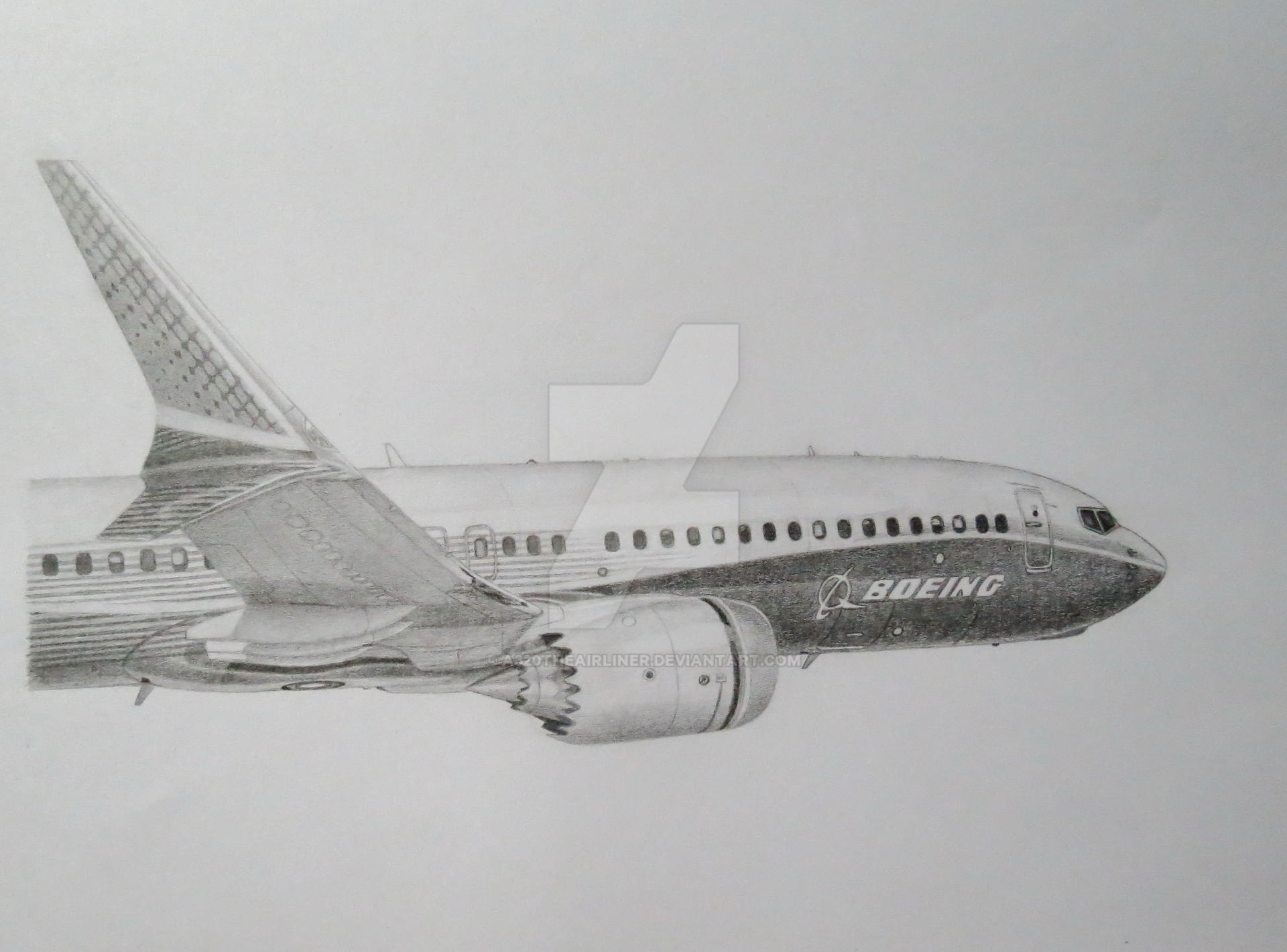 My Boeing 737 Max Drawing By A320theairliner On Deviantart